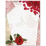 Scarlet Rose Border Papers