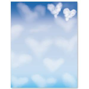 Heart Clouds Border Papers