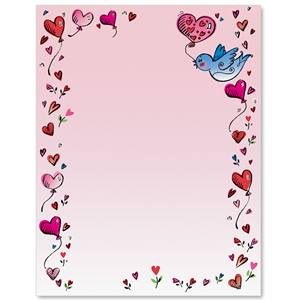 Heart Balloons Border Papers