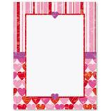 Heart Prints Border Papers