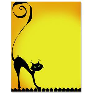 Witchy Kitty Border Papers