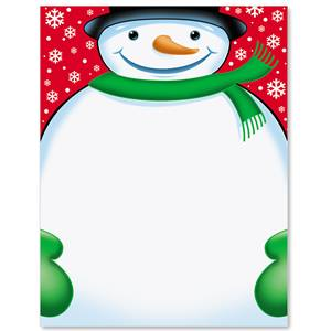 Spiffy Snowman Border Papers