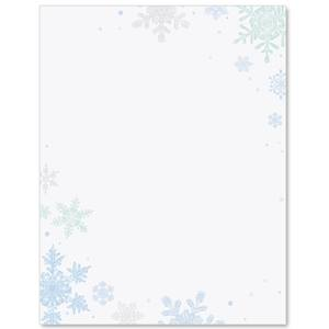 Scattered Snowflakes Border Papers
