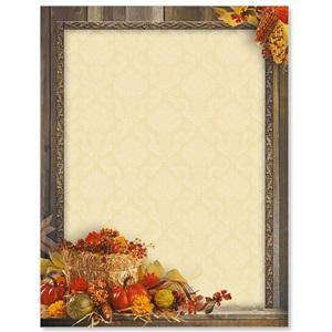 Autumn Treasures Border Papers | PaperDirect's