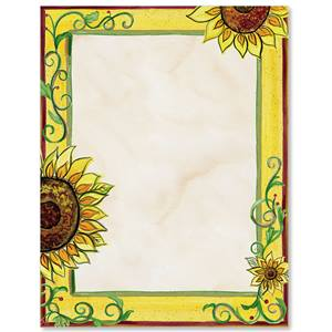Tuscan Sunflowers Border Papers