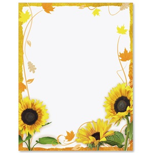 Sunflower Surprise Border Papers