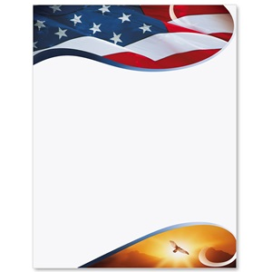 Patriotic Flight Border Papers