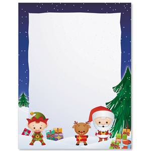 Christmas Crew Border Papers