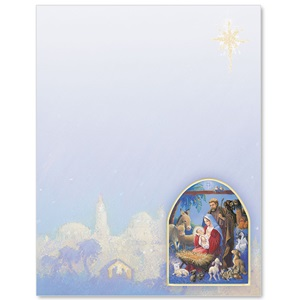 Christmas Nativity Border Papers