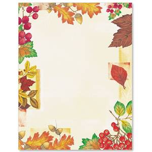 Fall Mix Border Papers