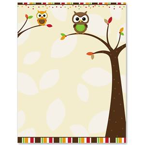Autumn Owl Border Papers