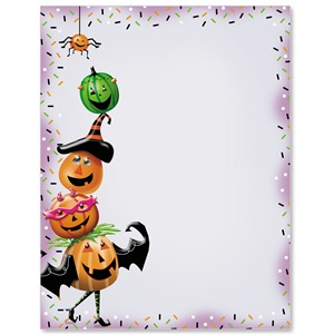 Spooky Pumpkins Border Papers