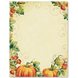 Pumpkin Spice Border Papers