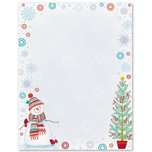 Snowman Delight Border Papers
