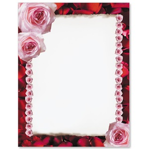 Romantic Red Border Papers