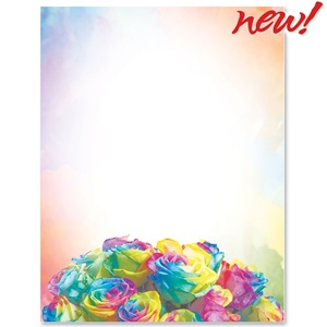 Prism Roses Border Papers