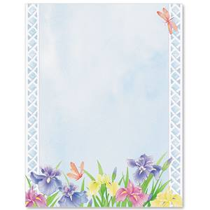 Iris Party Border Papers