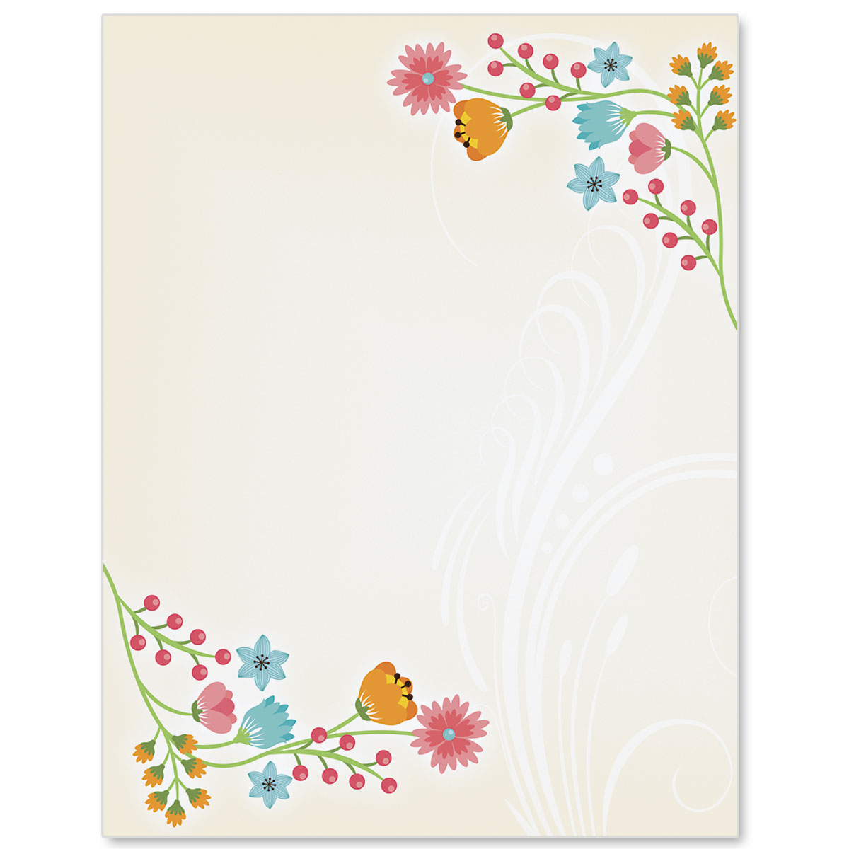 Flower frame border papers paperdirects flower frame border papers mightylinksfo