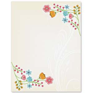 Flower frame border papers paperdirects flower frame border papers mightylinksfo