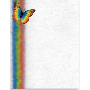 Rainbow Butterfly Border Papers