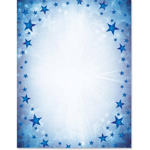 Star Beams Border Papers