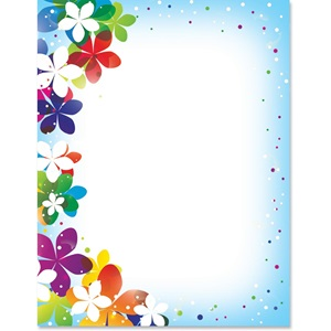 Vivid flower border papers paperdirects vivid flower border papers mightylinksfo