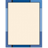 Blue Mondrian Border Papers