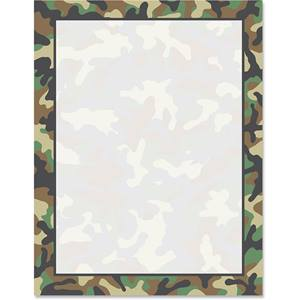 Camouflage Border Papers | PaperDirect's