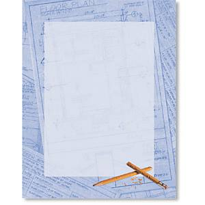 Blue Prints Border Papers