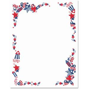 4th of July Border Papers