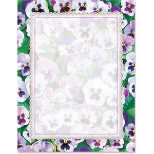 Pansies Border Papers