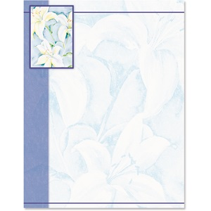 Spring Lilies Border Papers