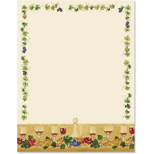 Wine Glasses Border Papers