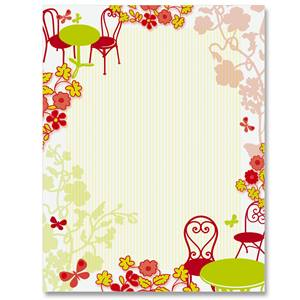 Table For Two Border Papers