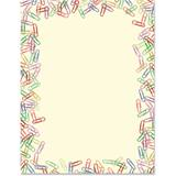 Paperclips Border Papers