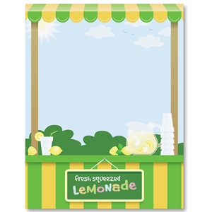Lemonade Stand Border Papers