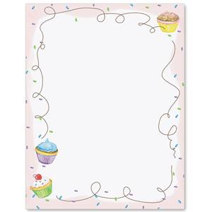 Cupcake Party Border Papers Paperdirect S