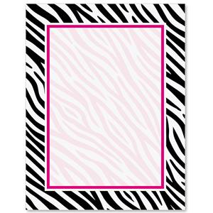Zebra print border papers paperdirects zebra print border papers voltagebd Choice Image