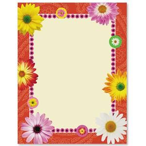Paper border design of flowers paper format border design with flower in sketch drawing artistic mightylinksfo