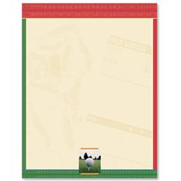Golf Score Card Border Papers