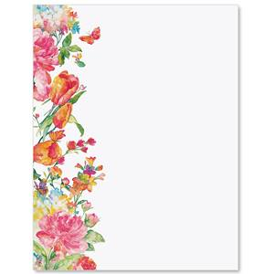 Pretty Petals Border Papers Paperdirect S