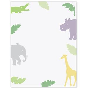 Baby Jungle Border Papers