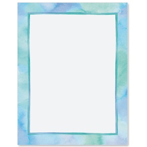 Blue Watercolor Border Papers