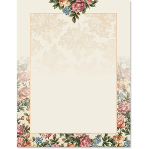 Victorian Rose Border Papers