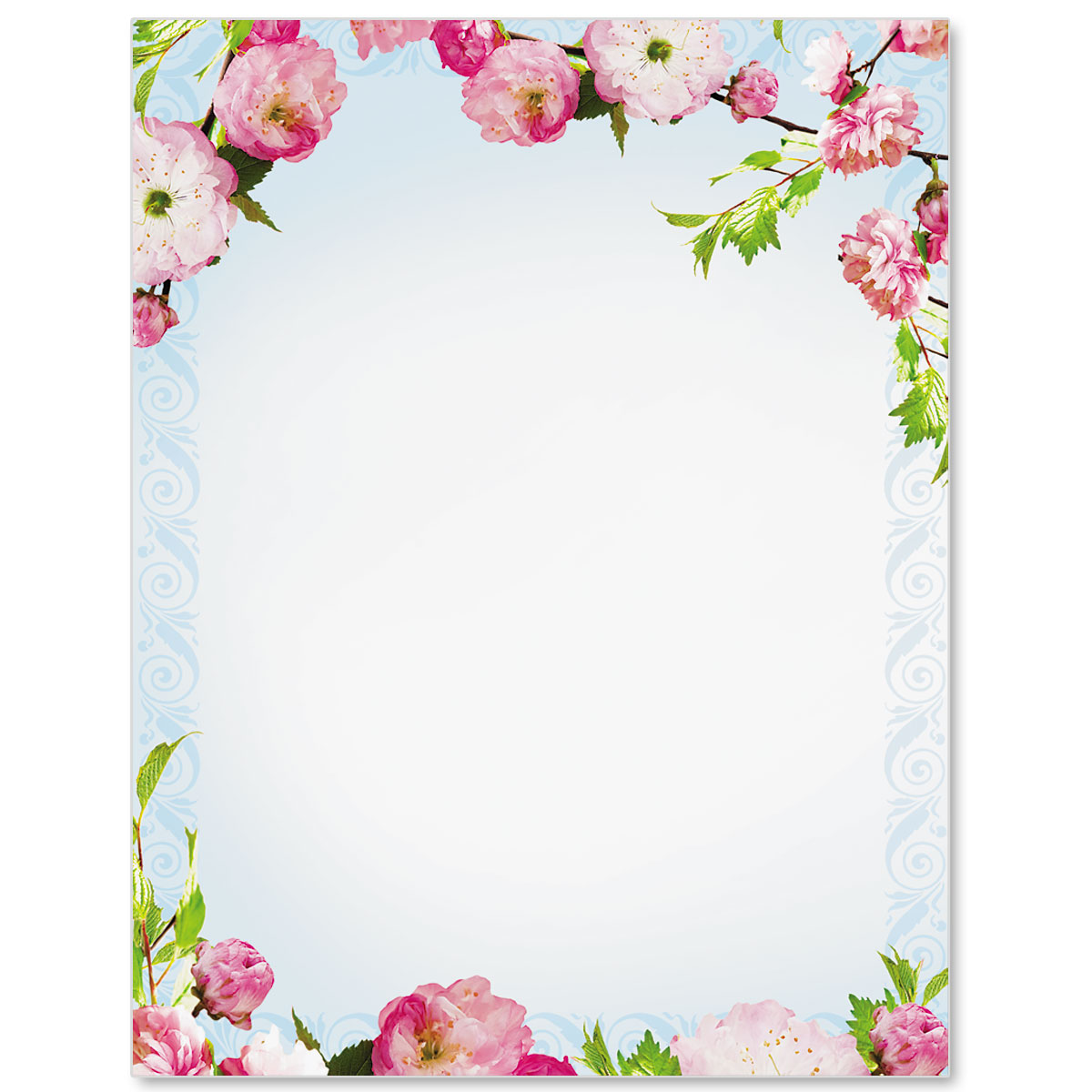 Cherry blossoms border papers paperdirects cherry blossoms border papers mightylinksfo