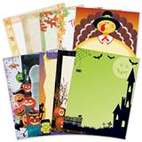 Thanksgiving and Halloween Border Papers Variety Pack