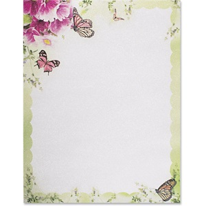 Primrose and Butterflies Shimmer Border Papers