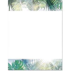 Botanical Palms Border Papers
