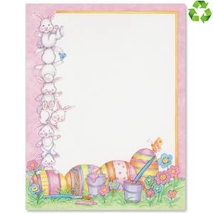 Easter Bunnies Border Papers