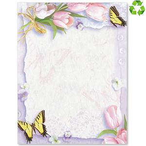 Floral Collage Border Papers